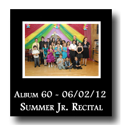 Photo Album 60: Summer Junior Rectial, June 2, 2012]